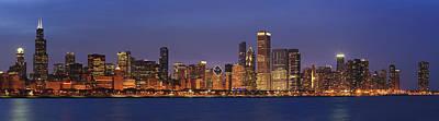 2010 Chicago Skyline Poster by Donald Schwartz