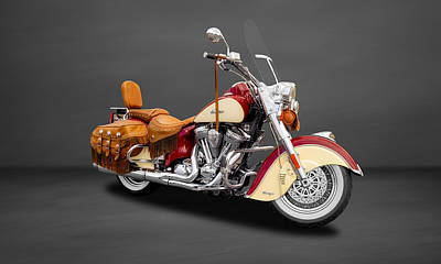 2010 Indian Chief Vintage Motorcycle   -   2010indian22 Poster by Frank J Benz