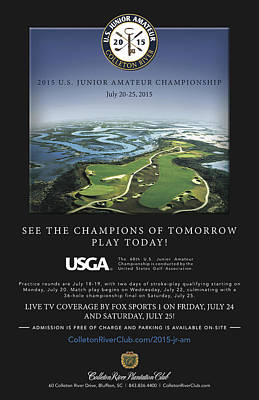 2015 U.s. Junior Championship Poster by Phill Doherty