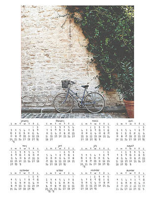 2016 Wall Calendar Bicycle Poster by Ivy Ho
