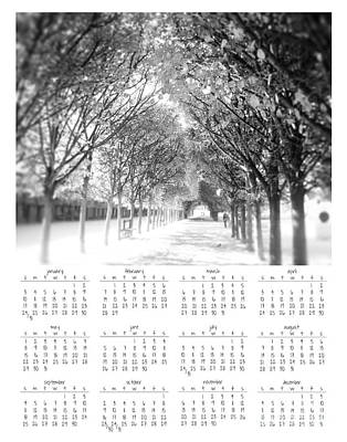 2016 Wall Calendar Misty Tuilleries Poster by Ivy Ho