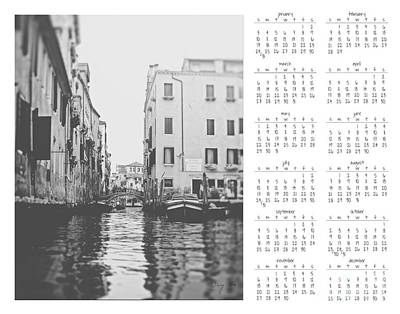 2016 Wall Calendar Venice Poster by Ivy Ho