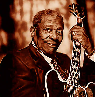 Bb King Collection Poster by Marvin Blaine