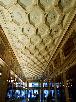 25 E. Washington Building Lobby In Chicago Poster by Michael Durst
