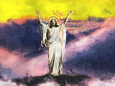 Jesus Christ - Religious Art Poster by Elena Kosvincheva