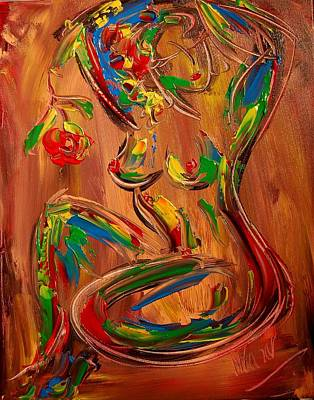 Nude Poster by Mark Kazav