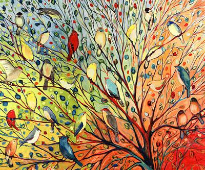 27 Birds Poster by Jennifer Lommers