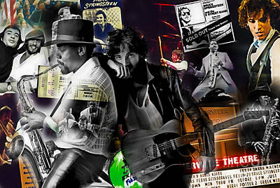 Bruce Springsteen Collection Poster by Marvin Blaine