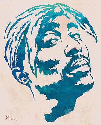 2pac Tupac Shakur Pop Art Poster Poster by Kim Wang