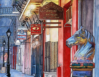 3   French Quarter Hitching Post Poster by John Boles