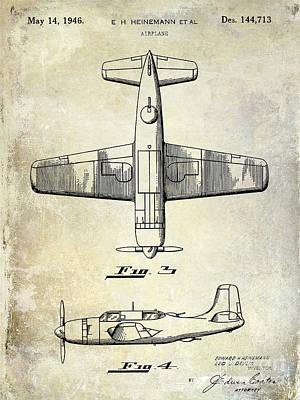 1946 Airplane Patent Poster by Jon Neidert