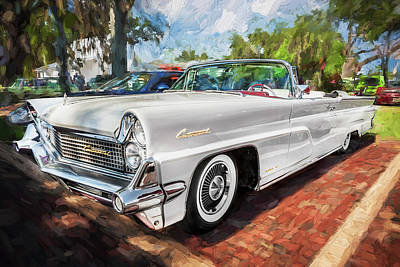 1959 Lincoln Continental Town Car Mk Iv Painted  Poster by Rich Franco