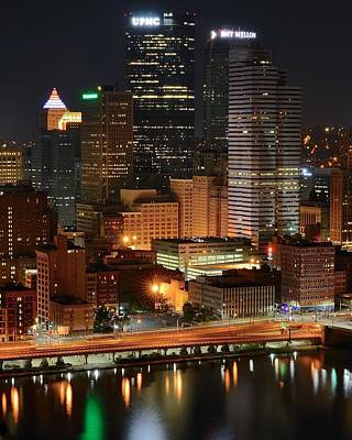 A Pittsburgh Night Poster by Frozen in Time Fine Art Photography
