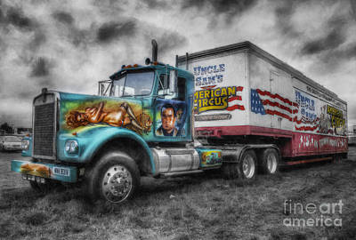 American Circus Truck Poster by Ian Mitchell
