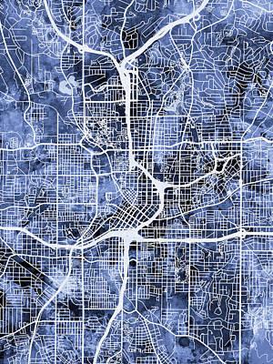 Atlanta Georgia City Map Poster by Michael Tompsett