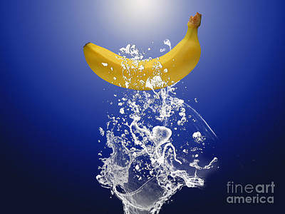 Banana Splash Poster by Marvin Blaine
