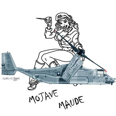 Bell Boeing Cv-22b Osprey Mojave Maude Poster by Arthur Eggers