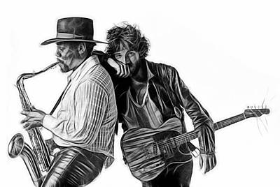 Bruce Springsteen Clarence Clemons Collection Poster by Marvin Blaine