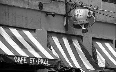 Cafe St. Paul - Montreal Poster by Frank Romeo