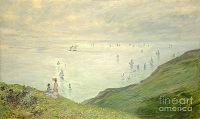 Cliffs At Pourville Poster by Celestial Images