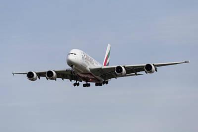 Emirates A380 Airbus Poster by David Pyatt