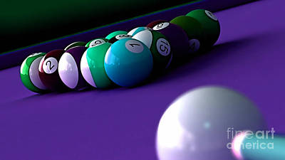 Game Room Billards Poster by Marvin Blaine