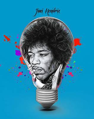 Jimi Hendrix Electric Poster by Marvin Blaine