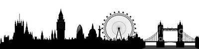 London Skyline Poster by Michal Boubin