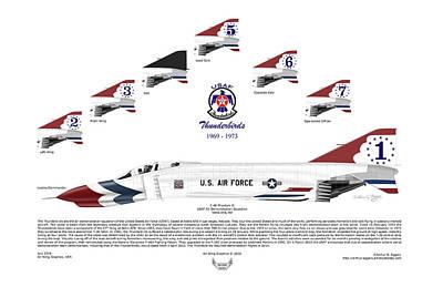 Mcdonnell Douglas F-4e Phantom II Thunderbirds Poster by Arthur Eggers