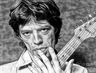 Mick Jagger Collection Poster by Marvin Blaine