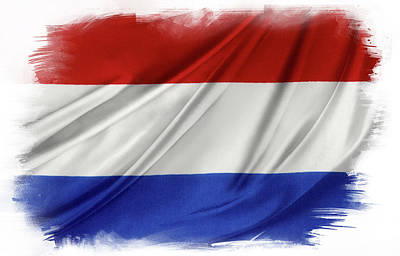 Netherlands Flag Poster by Les Cunliffe