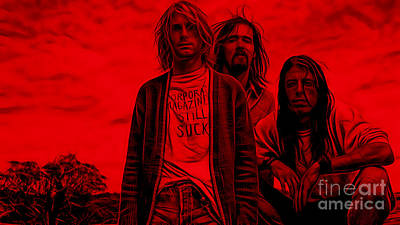 Nirvana Collection Poster by Marvin Blaine