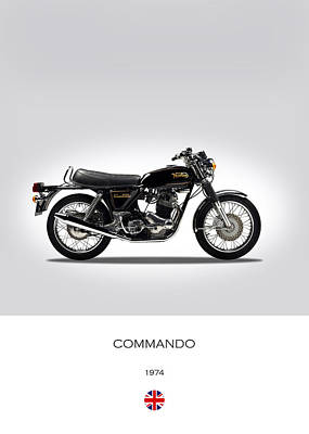 Norton Commando 1974 Poster by Mark Rogan