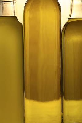 3 Olive Oil Bottles Poster by Frank Tschakert