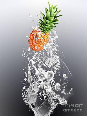 Pineapple Splash Poster by Marvin Blaine