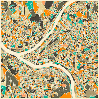 Pittsburgh Map Poster by Jazzberry Blue
