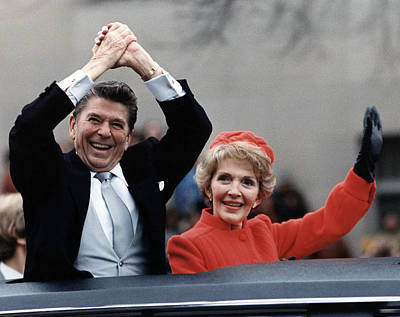 President Ronald Reagan And First Lady Poster by Everett