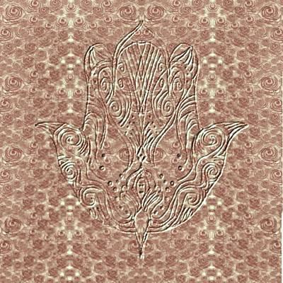 Roses Tapestry And Hamsa Poster by Sandrine Kespi