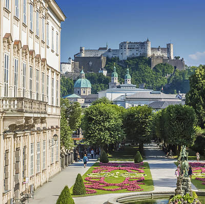 Salzburg Wonderful View To Salzburg Fortress Poster by Melanie Viola