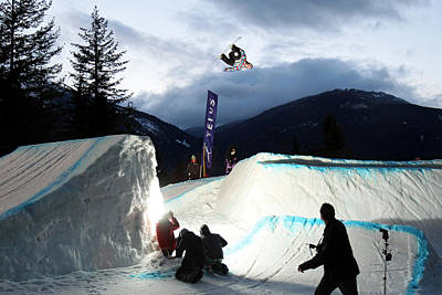 Snowboarder At The Telus Snowboard Festival Whistler 2010 Poster by Pierre Leclerc Photography