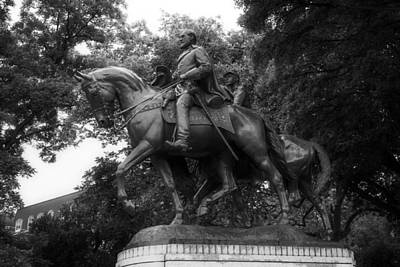 Statue Of General Robert E Lee On His Horse Traveller  Poster by Mountain Dreams