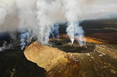 Steam Erupting From A Volcano, Kilauea Poster by Panoramic Images