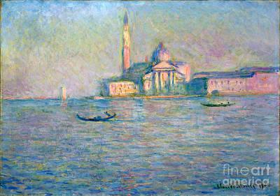 The Church Of San Giorgio Maggiore - Venice Poster by Claude Monet