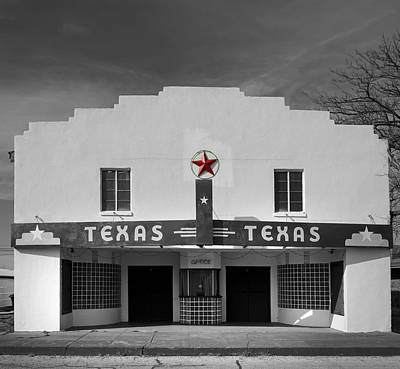The Texas Theatre Of Bronte Texas Poster by Mountain Dreams