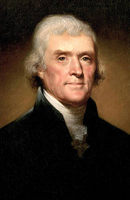 Thomas Jefferson Poster by Rembrandt Peale