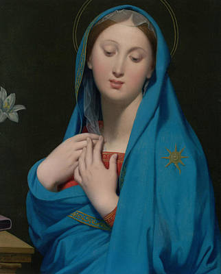 Virgin Of The Adoption Poster by Jean-Auguste-Dominique Ingres
