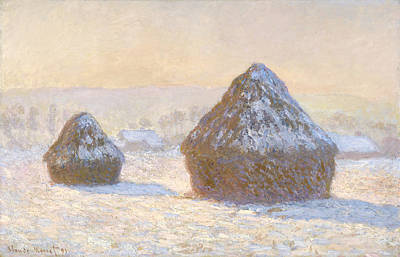 Wheatstacks Poster by Claude Monet