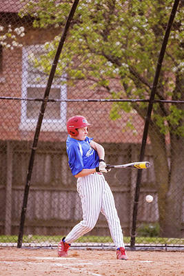 Youth Baseball Match Poster by Peter Lakomy