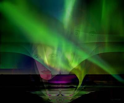 308 - Aurora Australis   Poster by Irmgard Schoendorf Welch