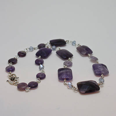 3575 Amethyst Necklace Poster by Teresa Mucha